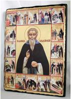 Икона Давид Гарджийский под старину