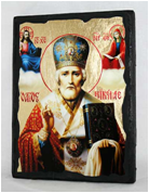 Икона Николай Чудотворец под старину 002