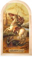 Янтарная икона Георгий (1)