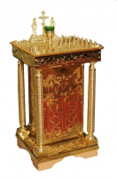 Панихидный стол тиснение малый на свечей