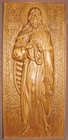 Пророк Илия - Резная деревянная икона