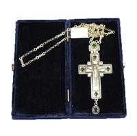 Крест наперсный серебренный МР-КРСВ-08-З