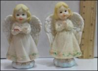 Керамическая статуэтка Ангелочек на облаке с книжкой