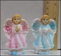 Керамическая статуэтка Ангелочек в молитве на облаке