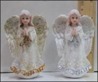 Керамическая статуэтка Белые Ангелочки с блеском