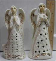 Керамический подсвечник Ангел с голубем
