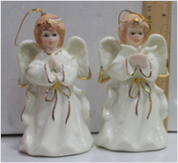 Керамическое украшение на елку Ангел с голубем