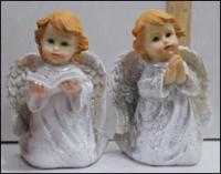 Керамическая статуэтка Ангел с книгой с блеском