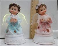 Керамическая статуэтка Ангел с голубем постамент