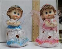 Керамическая статуэтка Ангел ребенок держит голубя