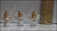 Маленькие керамические ангелочки на елку