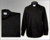 Рубашка длинный рукав  черная колоратка
