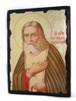Икона Серафим Саровский под старину