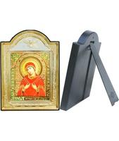 Икона Семистрельной Божией Матери 8-ПЛ-314 13,5х18,5 см пластмассовый киот, лик 10х12 Софрино эмаль, оклад (риза) золото.