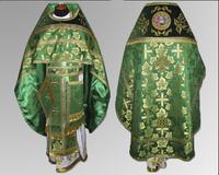 Облачение зеленое Иерейское парча бархат габардин