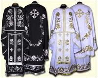 Облачение вышивка белое черное Иерейское парча бархат льен