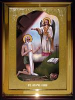 Икона Храмовая полуростовая Онуфрий