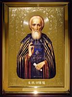 Икона Храмовая полуростовая Сергий Рад