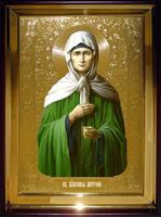 Икона Храмовая полуростовая Матрона Московская