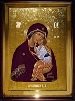 Икона Храмовая полуростовая Ярославская П Б
