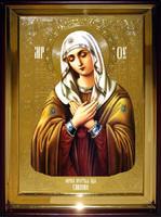 Икона Храмовая полуростовая Умиление П Б