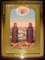 Икона Храмовая полуростовая Петр и Феврония