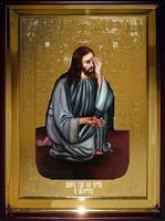 Икона Храмовая полуростовая Плач Исуса об абортах