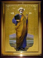 Икона Храмовая полуростовая Петр
