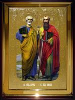 Икона Храмовая полуростовая Петр Павел