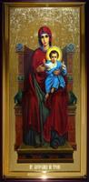 Икона Храмовая ростовая Богородица на Троне
