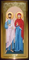 Икона Храмовая ростовая Иоаким и Анна