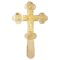 Крест напрестольный золотистый