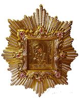 Икона Почаевской Божией Матери живописная в ризе