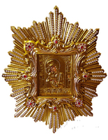 Икона Почаевской Божией Матери живописная в ризе 60х80 см