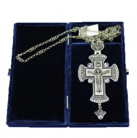 Крест наперсный серебренный МР-КРСВ-09-Л