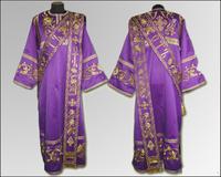 Дияконская риза фиолетовая вышивка