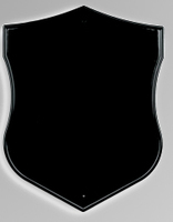 Табличка ритуальная фигурная «Щит» черная