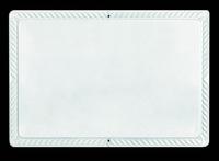 Ритуальная табличка прямоугольная  белая 19