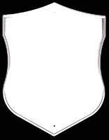 Табличка ритуальная фигурная «Щит» белая