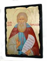 Икона Сергий Радонежский под старину 001