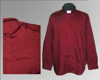 Рубашка длинный рукав  колоратка красная