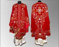 Облачение вышивка красное иерейское бархат