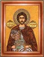 Янтарная икона Александр (1)