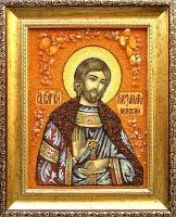 Янтарная икона Александр 3