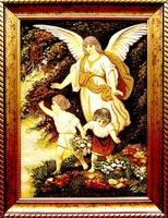 Янтарная икона Ангел хранитель (25)