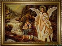 Янтарная икона Ангел хранитель (30)