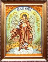 Янтарная икона Ангел хранитель (4)