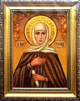 Янтарная икона Анна (1)