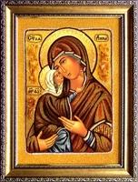 Янтарная икона Анна (2)
