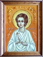 Янтарная икона Артемий